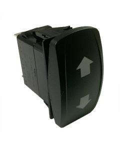 Contura V Laser Etched Single Pole (On) off (On) 2 LED's Green 12Vdc Up /Down