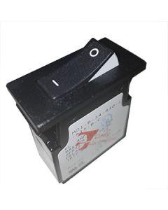MD1 Series Circuit Breaker Single Pole 25A White Visi On I/O Rocker Spade Terminals