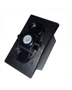 Switch Body Double Pole (On) None Off No Led 12Vdc with panel gasket