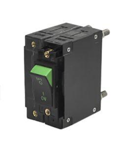 CC1 Series Circuit Breaker Green Visi Rocker On  40A 1 Pole  AC50/60Hz Medium