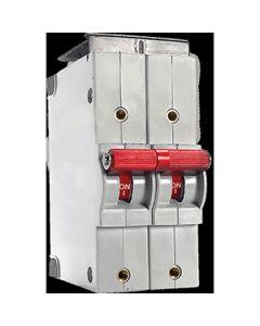CX Series High Voltage 300Vdc Circuit Breaker 2 Pole 30A DC Medium Screw 10--32