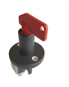 Battery Isolator 250A M10 Single Pole Removable Red Standard Key