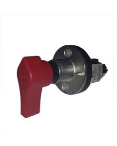 Battery Isolator 300A M10 Single Pole Centre Mount Key 5 Red Not removeable